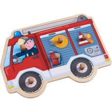 Haba inlay puzzle fire engine