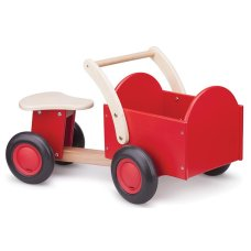 New Classic Toys Wooden Cargo Bike Red