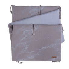 Babies Only Bedbumper Marble cool gray / lilac