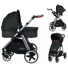 Ding Joyce Pram Black 3 in 1 with Car seat
