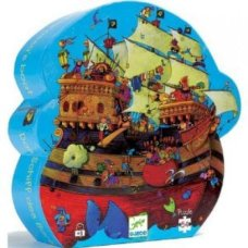 Djeco puzzle pirate ship blue