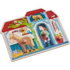 Haba inlay puzzle In the horse stable