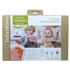 Infantino pack of 50 squeeze bags