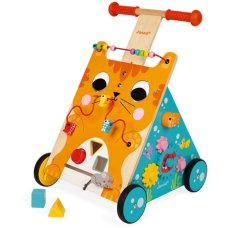 Janod Push cart with Activities Cat