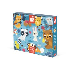 Janod tactile puzzle forest animals