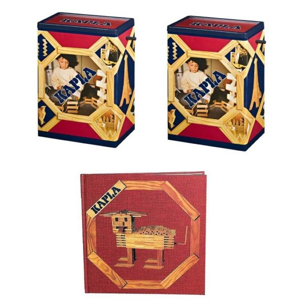 Kapla Offer 2 x 200 with Book Red