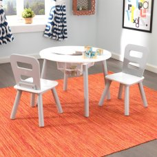 Kidkraft Round Table with chairs gray and white