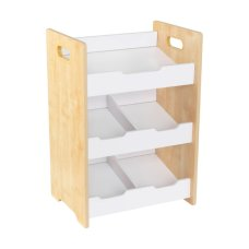 Kidkraft cabinet with slanted storage bins Natural with White