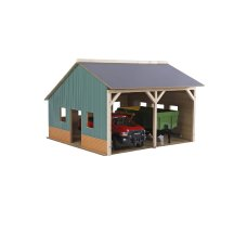 Kids Globe agricultural shed for 2 tractors