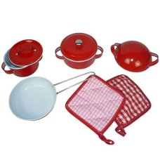 Playwood Pan Set Red