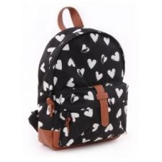 Kids backpack Kidzroom Black and White Hart black
