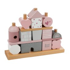 Label Label Stacking Blocks Pink
