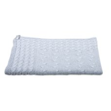 Baby's Only Cot Blanket Cable Gray
