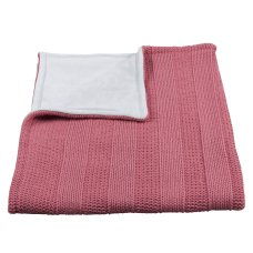 Baby's Only Cot Blanket Chenille Robust Rib Raspberry
