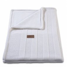 Baby's Only Cot Blanket Chenille Robust Rib White