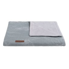Babies Only Cot blanket Teddy Marble gray / silver gray