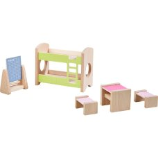 Haba Dollhouse furniture Children's room for Two