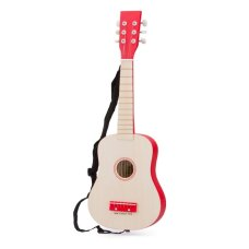 New Classic Toys Guitar the Luxe Blank with Red