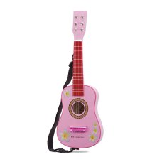 New Classic Toys guitar pink with flowers