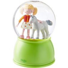 Haba Nightlight / snow globe with led horse happiness