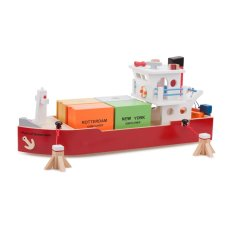 New Classic Toys Container Ship with 4 Containers