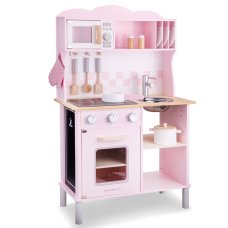 New Classic Toys Modern children's kitchen with electric Pink hob