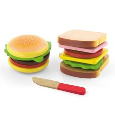 Viga toys Hamburger and Sandwich set