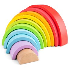 New Classic Toys wooden rainbow 10 arches