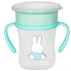 Miffy Anti leak cup 360 ° With Handles 250ml Mint