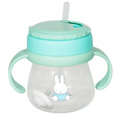 Miffy Straws cup with handles 250ml Mint
