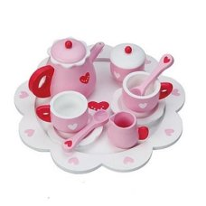 Playwood tea service hearts