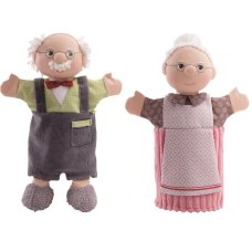 Haba Hand puppets Set Grandpa and Grandma