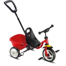 Puky tricycle Red Ceety with push rod