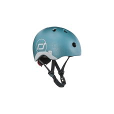 Scoot and Ride helmet with reflection XS Steel
