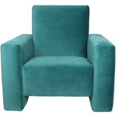 Ding children's armchair Jamie Velvet blue