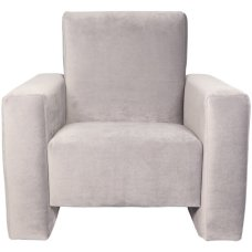 Ding children's armchair Jamie Velvet gray