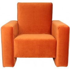 Ding children's armchair Jamie Velvet orange