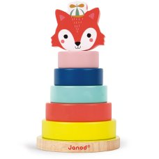 Janod Baby Forest stacking tower fox