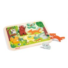 Janod Chunky puzzle forest animals