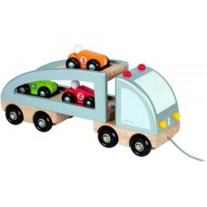 Janod Passenger figure Truck with 3 Cars