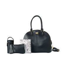 Isoki nursery bag / diaper bag Madame Polly Toorak Black