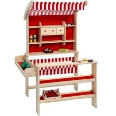 Playwood Houten Winkel Red (excluding accessories)