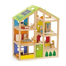 Hape 4 Seasons Dollhouse + Furniture